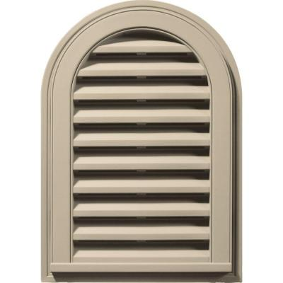 14 in. x 22 in. Round Top Gable Vent in Sandalwood